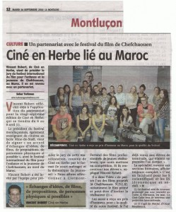 "Article ""La Montagne"" du 16/09/2014"